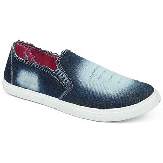 Chevit Womens Denim Blue Pink 205 Casual Loafers and Mocassins
