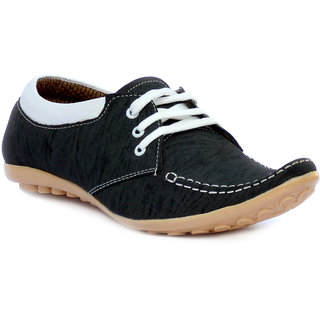 Anapple Men's Black Lace-up Outdoors Shoes