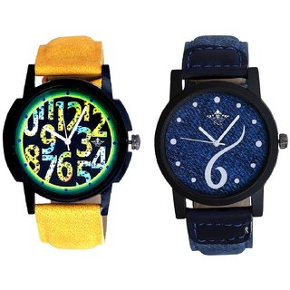 Sports Sixth Art Design And Awesome Exclusive Digits Analog Men's Combo Wrist Watch
