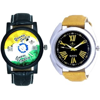 Roman Digits Special Design And Young India Grow India SCK Men's Combo Wrist Watch