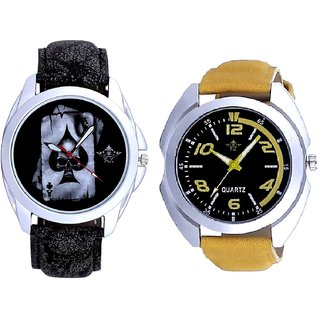 Fancy Yellow Sports Strap Dial And Life Race Akka SCK Combo Analogue Wrist Watch