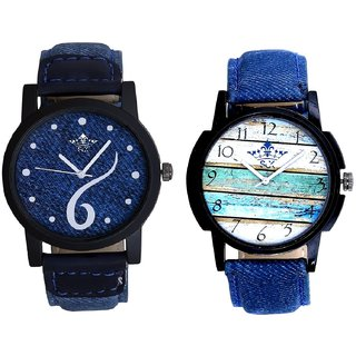 Sports Sixth Art Design And Spanish Special Colour SCK Men's Combo Wrist Watch