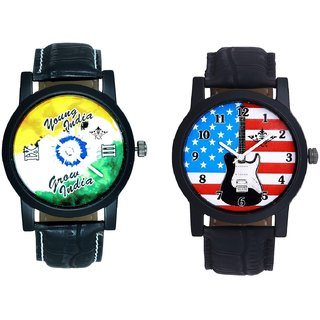 Exclusive USA Design  And Young India Grow India SCK Men's Combo Wrist Watch