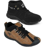Chevit Men's Combo Pack Of 2 Casual Sneakers (Sports An