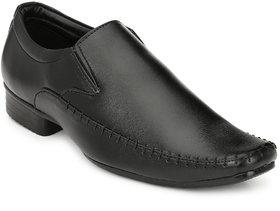 HNT Men Black Smart Formals Slip On Shoes