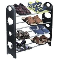 Shoe Rack Plastic (Black)