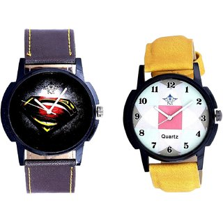 Super Men Stylish And Luxury Square Design SCK Analogue Combo Watch
