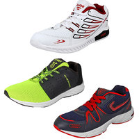 Earton Combo Pack Of 3 Pair Of Men Sports Running Shoes