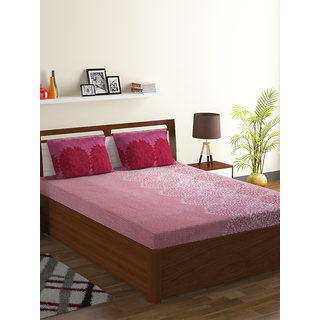 Bombay Dyeing Pink Bombay Dyeing 100% Cotton Breeze Double Bed Sheet
