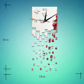 DIY Wall Clock 3D Sticker Home Office Decor 3D Wall Clock (Covering Area1846cm) - DY4585S