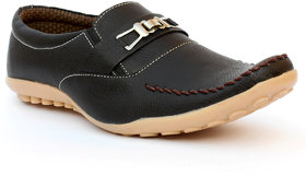 Anapple Men's Black Casual Loafers