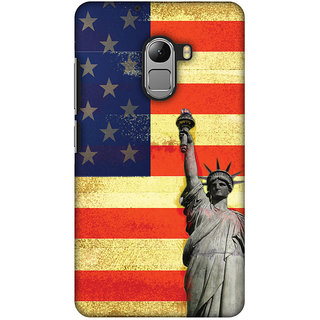 Amzer Designer Case - Rustic Liberty US Flag For Lenovo A7010