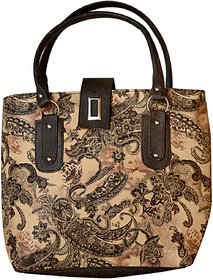FASSO Fashion Printed Hand Held Bag (Brown)