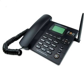FOR Dual SIM F1+ GSM Fixed Wireless Phone Corded  Cordless Landline Phone  (Black)