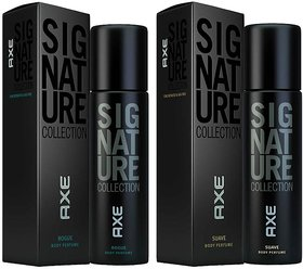 Signature Black Collection Deo Deodorants Body Spray For Men  Combo Pack Of 2 Pcs