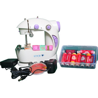 complete lite Portable 4 in 1 with adapter and foot pedal Electric Sewing Machine