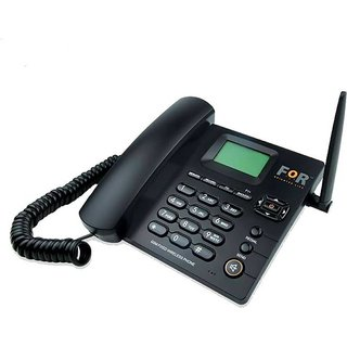 FOR Dual SIM F1+ GSM Fixed Wireless Phone Corded Cordless Landline Phone (Black)