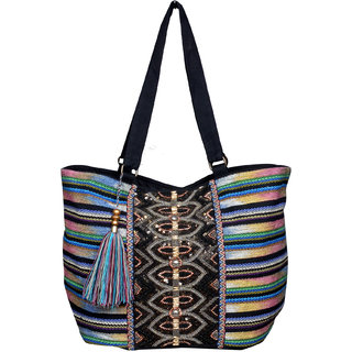 Multi Colored Hi Fashion Hand Bag
