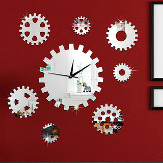 DIY Wall Clock 3D Sticker Home Office Decor 3D Wall Clock (Covering Area6565cm) - DIY609S
