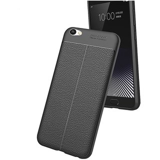 newest 26591 38118 BS TPU Flexible Auto Focus Shock Proof Back Cover For Vivo V5s (Black)