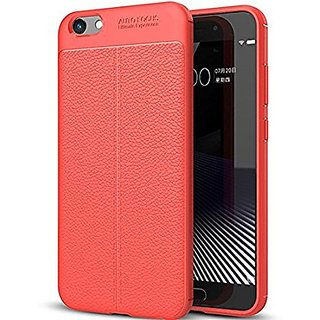 BS TPU Flexible Auto Focus Shock Proof Back Cover For Vivo V5s (Red)