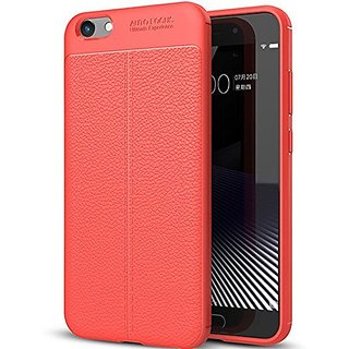 BS TPU Flexible Auto Focus Shock Proof Back Cover For Vivo Y69 (Red)