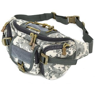 Aeoss Outdoor Unisex Waist Bag Tactical Military Waist Pack Chest Bag Pouch Waist Pack With Water Bottle Pocket Holder