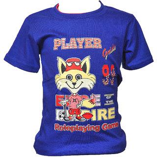 Pari  Prince Blue Kids Hosiery Tshirt