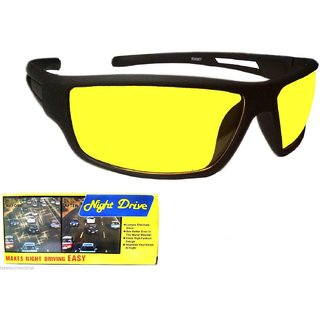64083e8fb76 Buy Real HD Best Quality Yellow Color Glasses Night Driving Glasses BUY 1  GET 1 FREE Online   ₹349 from ShopClues