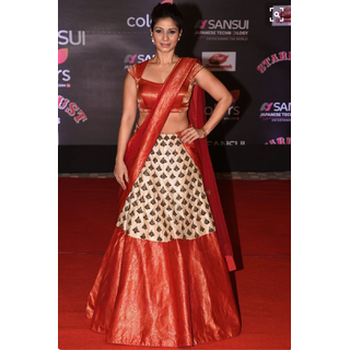 6cd1663a936d Buy Fabrica Shoppers Designer south indian White and red Lehenga ...