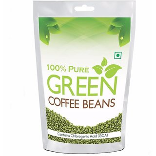 Pure organic Arabica Green Coffee Beans 200gm, Decaffeinated  Unroasted Arabica Coffee for Weight Management (200 grams