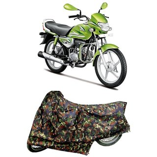 De AutoCare Premium Quality Junglee Matty Two Wheeler Bike Body Cover For Hero HF Deluxe Eco