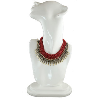Anuradha Art Maroon Colour Thread  Styled Handmade Wonderful Trendy Necklace For Women/Girls