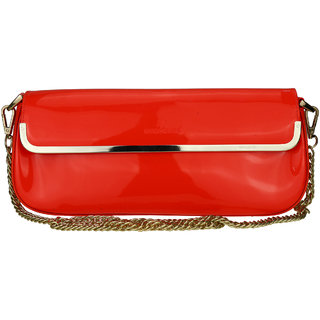 ZEVORA Orange D02 Pu Designer Sling Bag For Womens
