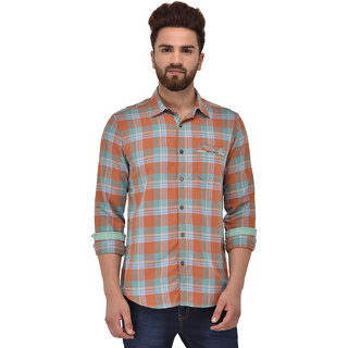 Blue Buddha Men's Green Checkered Shirt