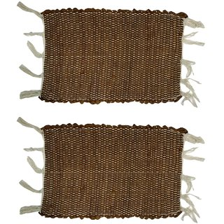 Home Berry Cotton chindi mat light brown 12 x  18 2 pcs