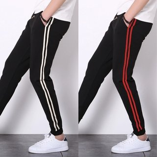 Buy Toyouth 2018 New Fashion Black Stripped Gym Trackpants For Men