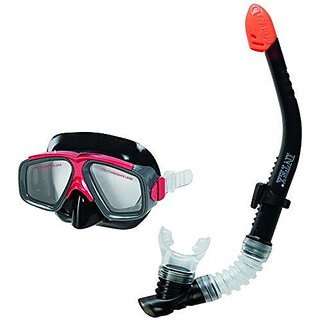 e7f6b80e8ec Buy Intex Reef Rider Snorkel Mask Set Diving Equipments for 8+ Adults   55949 Black Online   ₹1099 from ShopClues