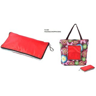 PC-039 EVERYDAY USE FOLDABLE SHOPPING BAG(ASSORTED COLOUR)1 PIECE