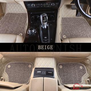 Autofurnish 7D Luxury Custom Fitted Car Mats For Maruti Suzuki Ertiga - Beige