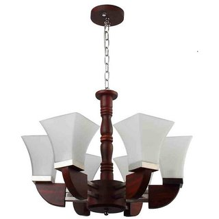 LeArc Designer Lighting Contemporary Glass Metal Wood Chandelier CH308