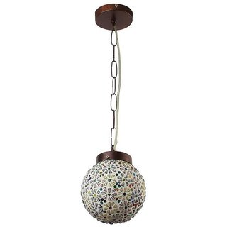 LeArc Designer Lighting Glass Metal Pendent Single HL3845