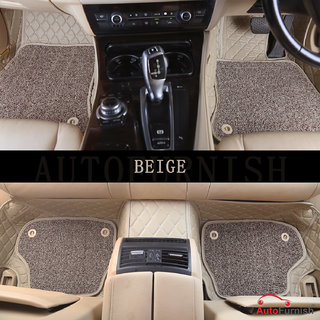 Autofurnish 7D Luxury Custom Fitted Car Mats For Volkswagen Ameo - Beige