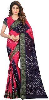 Awesome Multicolor Bhagalpuri Silk Printed Saree With Blouse