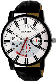 Slanzer Prophecy SLZ-0079 White Dial Black Strap Analog