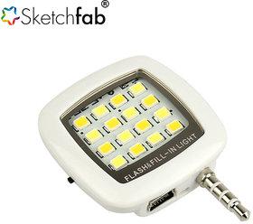 Mini 16 LED Selfie Flash Light By Sketchfab - Multi Color