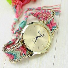 Women Wadding party Handmade Bracelet  Hand Girls  Ladies Braslate Watches