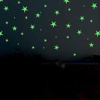 50 nos. of Night Glowing Radium Magic Stars for Kids Rooms