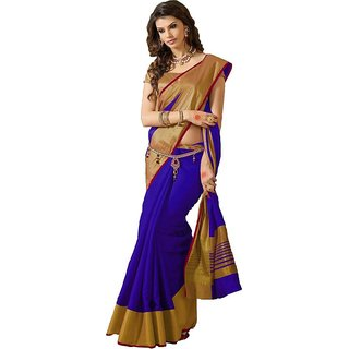 Indian Beauty Art Silk Saree With Blouse - Multicolor (5.5 Meter)