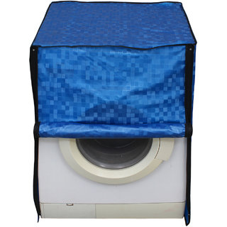 Glassiano Blue Colored Washing Machine Cover For Fully Automatic Front Load 8 Kg to 8.5 Kg Model